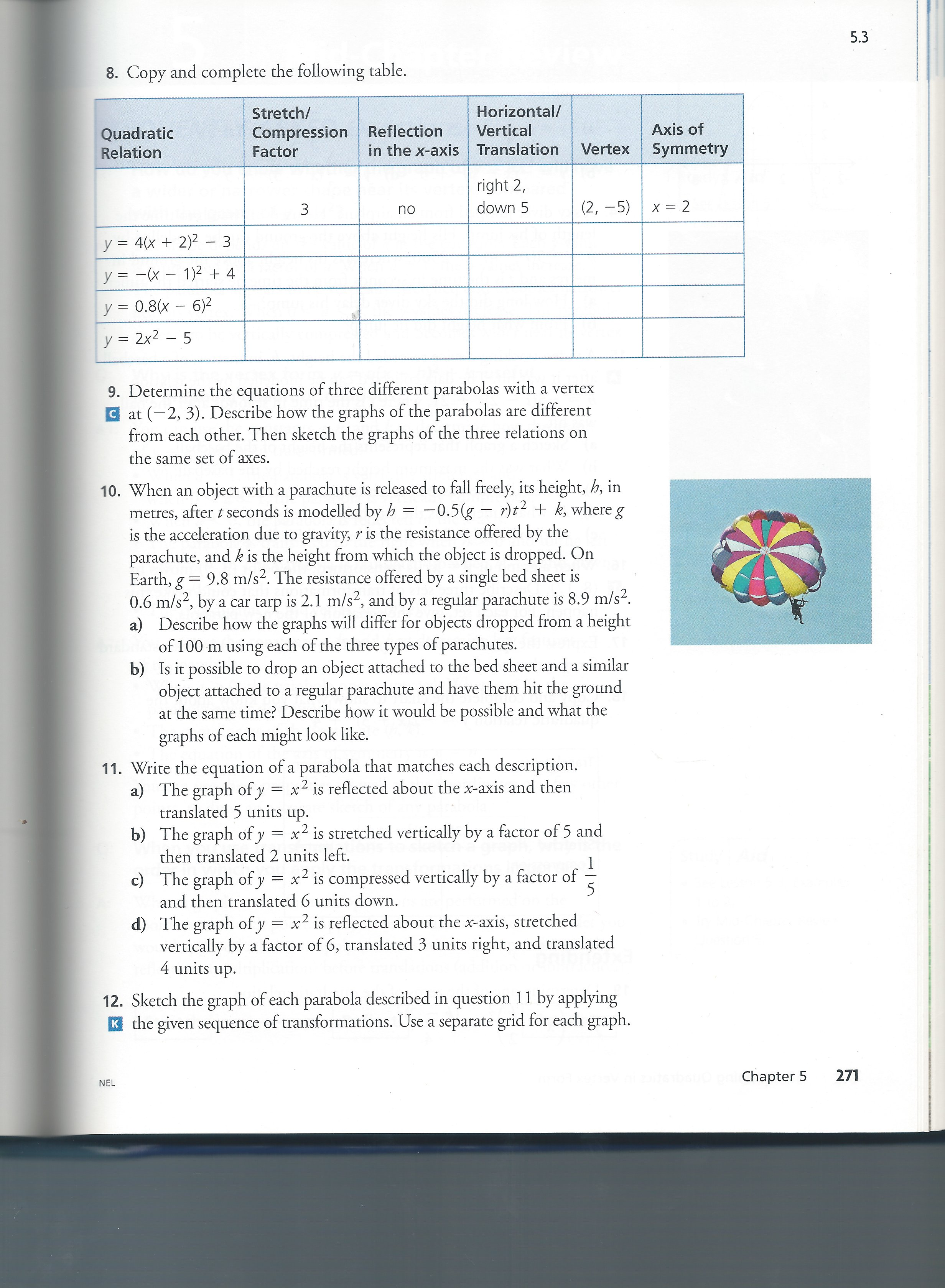 chapter 12 supplement of mathematics in Mgf 1106 chapter 12, statistics, practice test page 3 of 3 answers: 1 first statistical value is for latitude, second statistical value is for temperature.